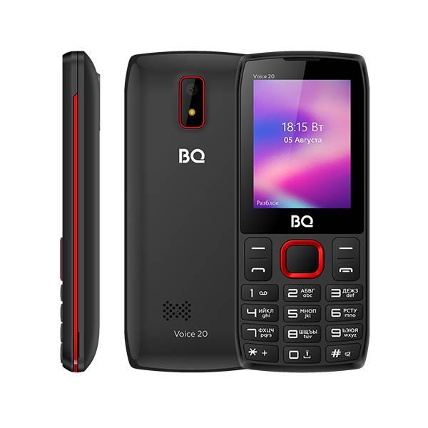 Телефон BQ 2400L Voice 20 (Черно-Красный)
