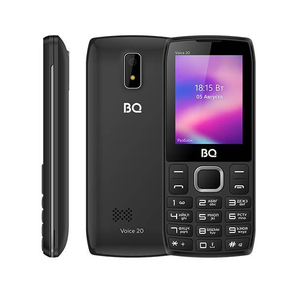 Телефон BQ 2400L Voice 20 (Темно-серый)