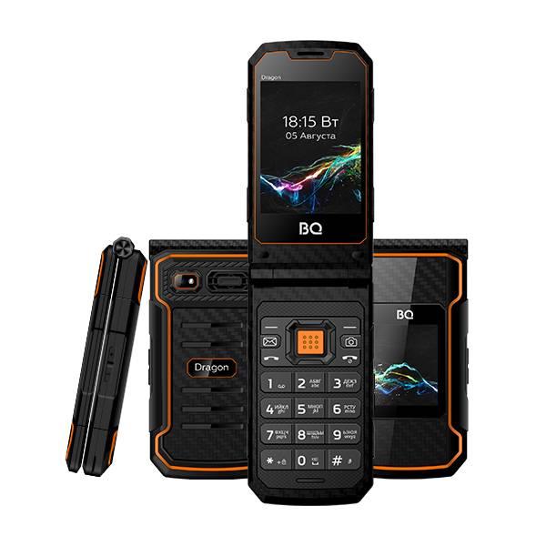 Телефон BQ 2822 Dragon (Черно-оранжевый)