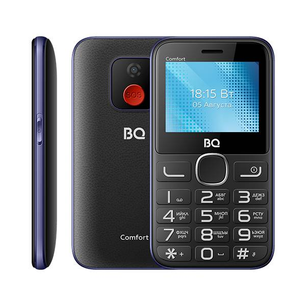 Телефон BQ 2301 Comfort (Черно-синий)