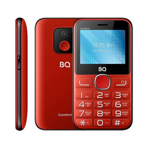Телефон BQ 2301 Comfort (Красно-черный)