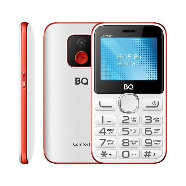 Телефон BQ 2301 Comfort (Бело-Красный)