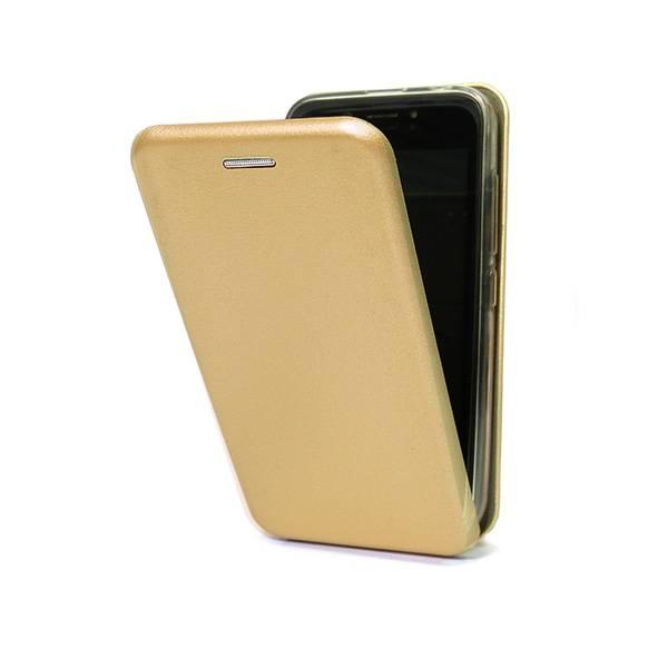 Чехол-флип для BQ-5201 Space (эко кожа+силиконовый) (Золотой)