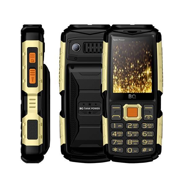 Телефон BQ-2430 Tank Power (Черно-золотой)