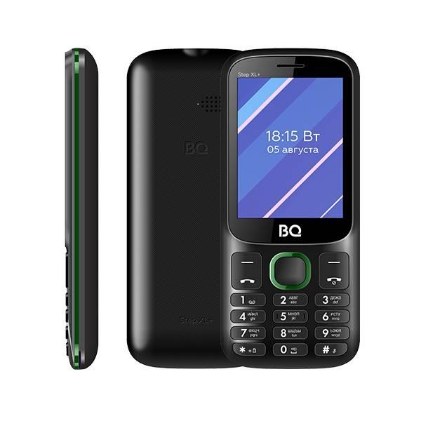 Телефон BQ 2820 Step XL+ (Черно-зеленый)
