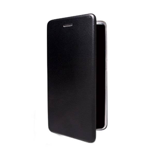 Чехол-книжка для BQ 5732L Aurora SE (экокожа+силикон, черный) (Черный)