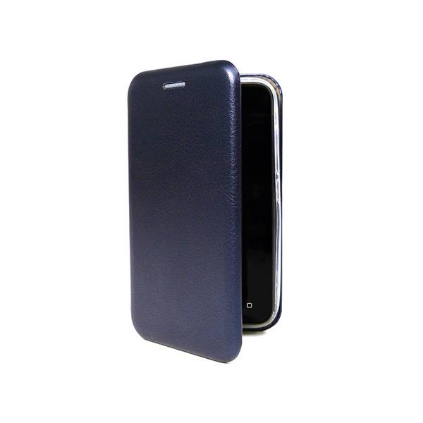 Чехол-книжка для BQ-5591 Jeans (эко кожа+силиконовый) (Тёмно-синий)
