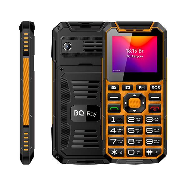 Телефон BQ 2004 Ray (Черно-оранжевый)